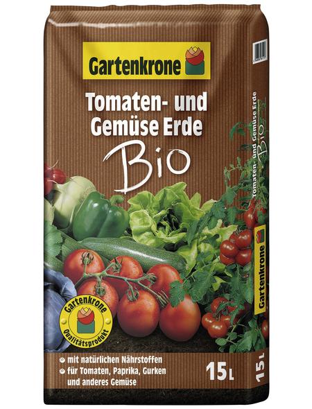 GARTENKRONE Bio-Pflanzenerde »Bio«, für Tomaten, Paprika, Gurken und anders Gemüse