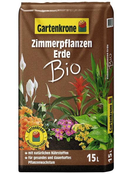 GARTENKRONE Bio-Pflanzenerde »Bio«, für Zimmerpflanzen
