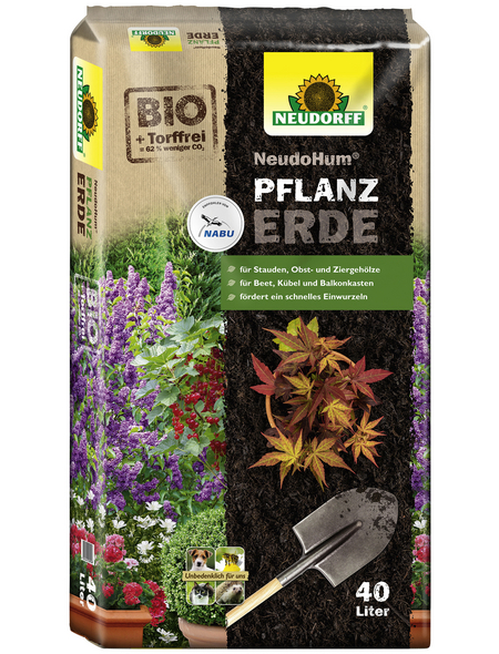 NEUDORFF Bio-Pflanzenerde »NeudoHum«, für Gehölzen, Sträuchern, Stauden und Sommerblumen