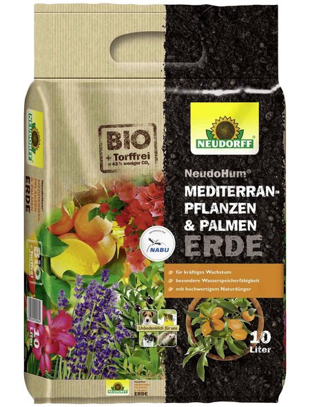 NEUDORFF Bio-Pflanzenerde »NeudoHum«, für Mediterranpflanzen und Palmen
