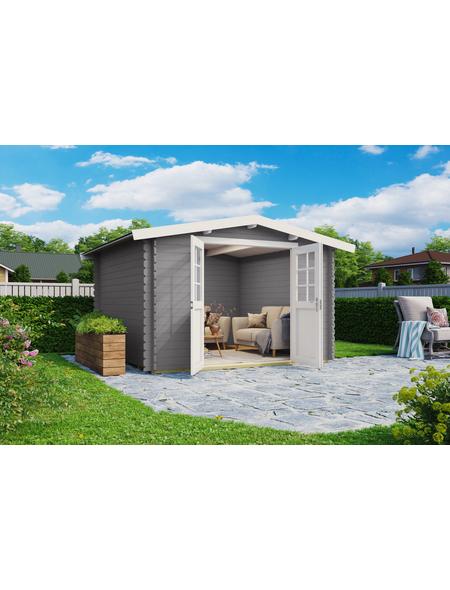 MR. GARDENER Blockbohlenhaus »Australien«, BxT: 333 x 310 cm, Satteldach