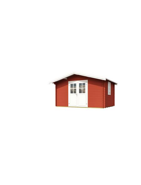 Lasita Maja Blockbohlenhaus Bxt 380 X 280 Cm Aussenmasse Satteldach Hagebau De