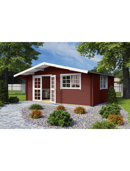 LASITA MAJA Blockbohlenhaus, BxT: 485 x 385 cm (Außenmaße), Satteldach