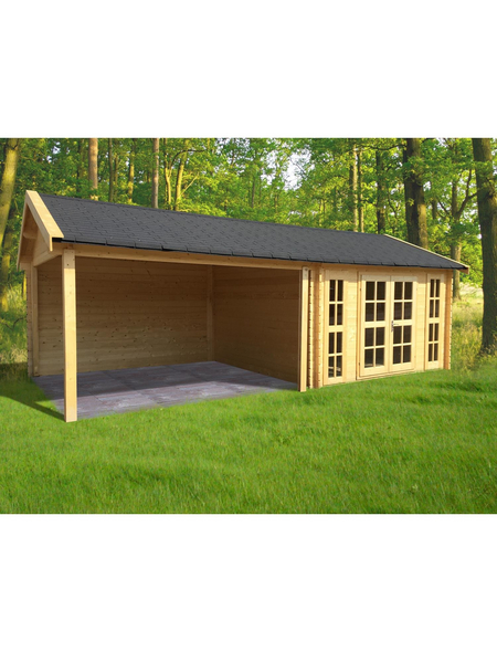 Gardenhouses® Blockbohlenhaus »Hannover«, B x T: 760 x 360 cm