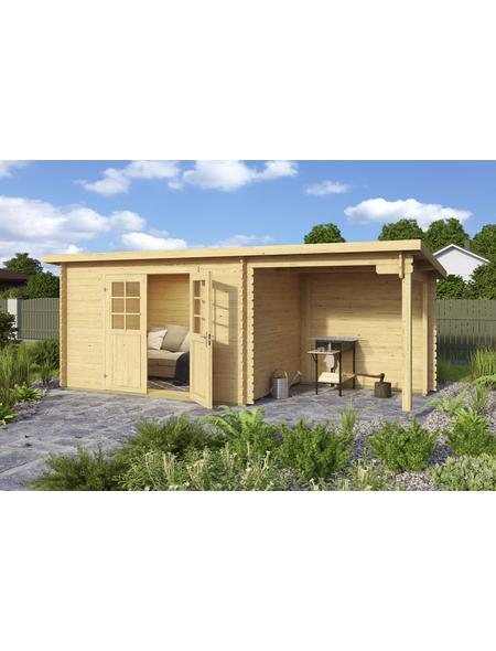 MR. GARDENER Blockbohlenhaus »Malta«, BxT: 532 x 238 cm, Pultdach