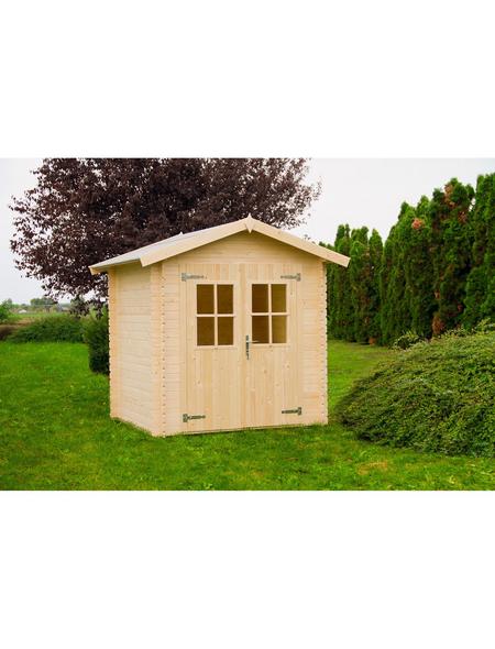 Mr Gardener Blockbohlenhaus Neuseeland Bxt 229 X 213 Cm Aufstellmasse Satteldach Hagebau De