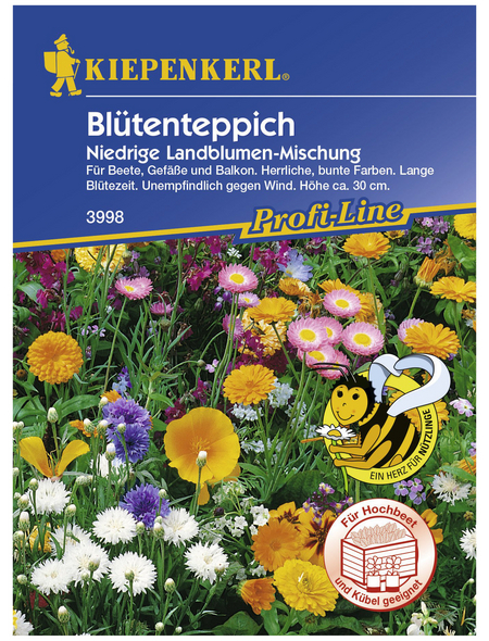 KIEPENKERL Blütenteppich Mischung, Samen, Blüte: mehrfarbig
