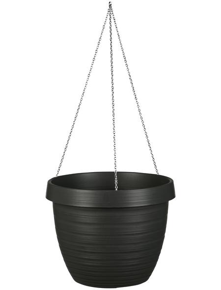 CASAYA Blumenampel »CATANIA«, ØxH: x 22,4 cm, grau/anthrazit