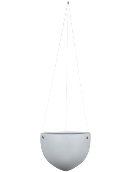 SCHEURICH Blumenampel »HANGING POT«, ØxH: 18 x 14,8 cm, grau