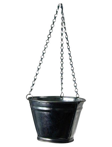 A.H.G. Blumenampel, Zink, silber-Metallic, rund