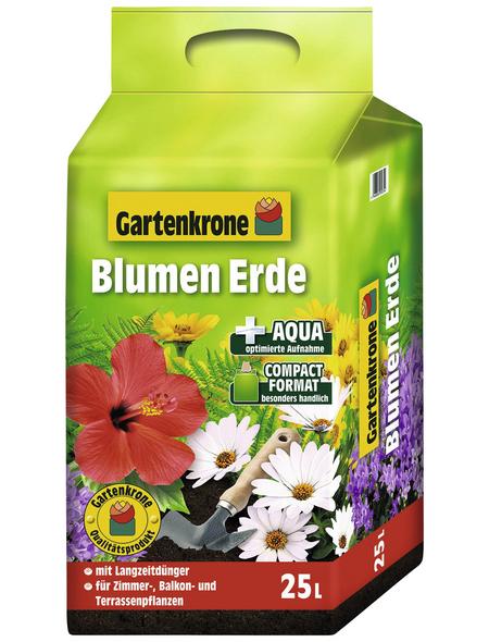 GARTENKRONE Blumenerde »Compact«, für Zimmer-,Balkon- und Terassenpflanzen