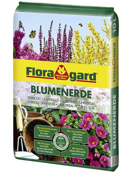 FLORAGARD Blumenerde, für Balkonpflanzen, Kübelpflanzen,Zimmerpflanzen