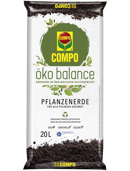 COMPO Blumenerde »öko balance«, für Balkon- und Gartenpflanzen, Gemüsepflanzen, torffrei