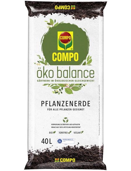 COMPO Blumenerde »öko balance«, für Balkon- und Gartenpflanzen, Gemüsepflanzen , torffrei
