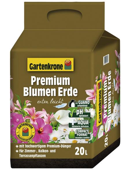 GARTENKRONE Blumenerde »Premium extra leicht«, für Zimmer-,Balkon- und Terassenpflanzen