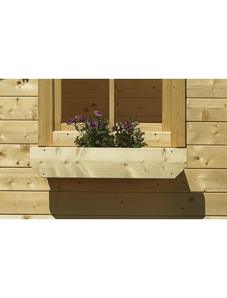 KARIBU Blumenkasten für Gartenhäuser  »mit Kunststoffeinsatz«, Holz