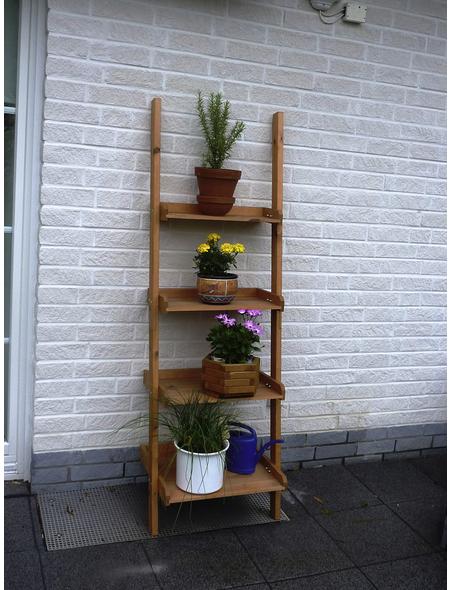 PROMADINO Blumenleiter, BxH: 58 x 177 cm, Kiefernholz, honigbraun