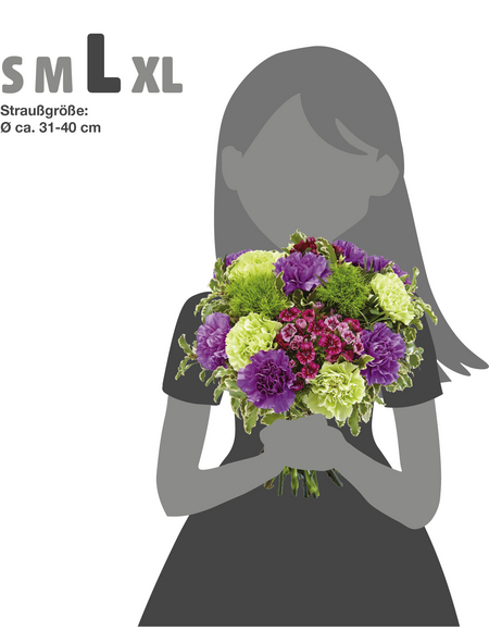 Blumenstrauß »Nelken«, Ø 31–35 cm