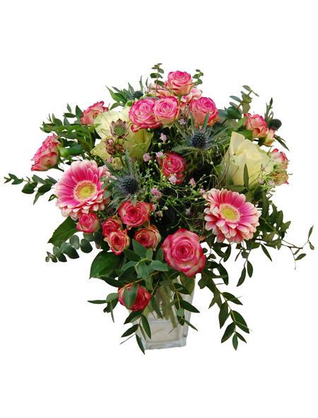 Blumenstrauß »Rose, Eukalyptus«, Ø 35–40 cm
