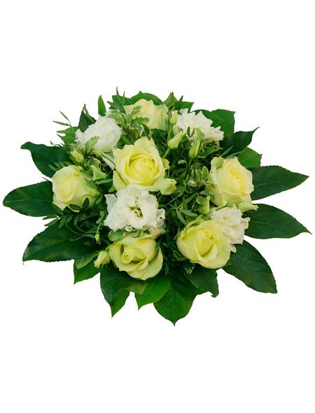 Blumenstrauß »Rosen, Lysianthus«, Ø 26–30 cm