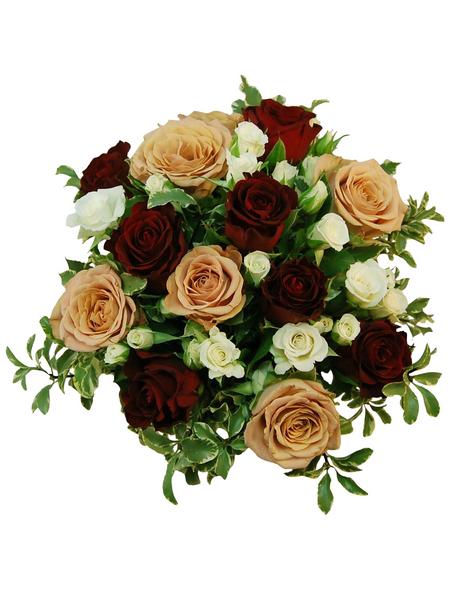 Blumenstrauß »Rosen, Lysianthus, «, Ø 35–39 cm