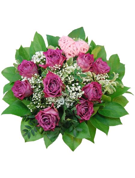 Blumenstrauß »Rosen, Schleierkrraut«, Ø 26–30 cm