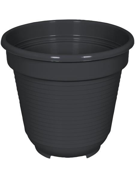 GELI Blumentopf, Breite: 10 cm, anthrazit, Kunststoff