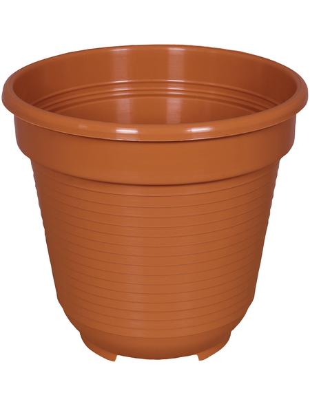 GELI Blumentopf, Breite: 10 cm, terracotta, Kunststoff