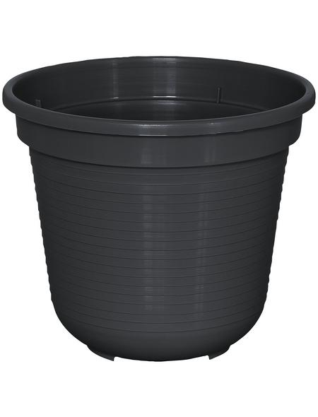 GELI Blumentopf, Breite: 16 cm, anthrazit, Kunststoff