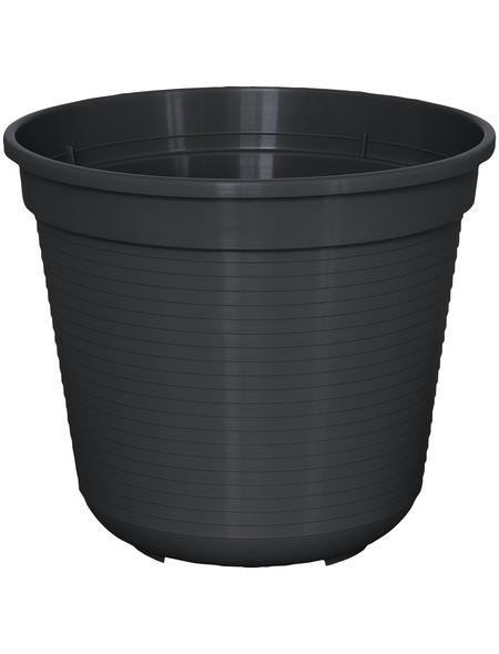 GELI Blumentopf, Breite: 22 cm, anthrazit, Kunststoff