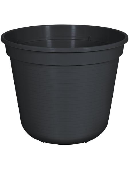 GELI Blumentopf, Breite: 24 cm, anthrazit, Kunststoff