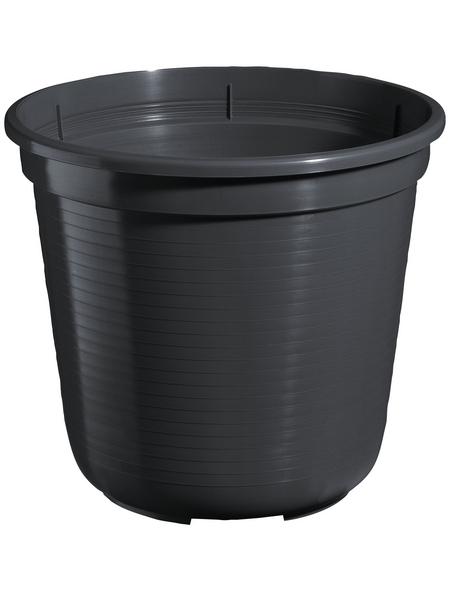 GELI Blumentopf, Breite: 40 cm, anthrazit, Kunststoff