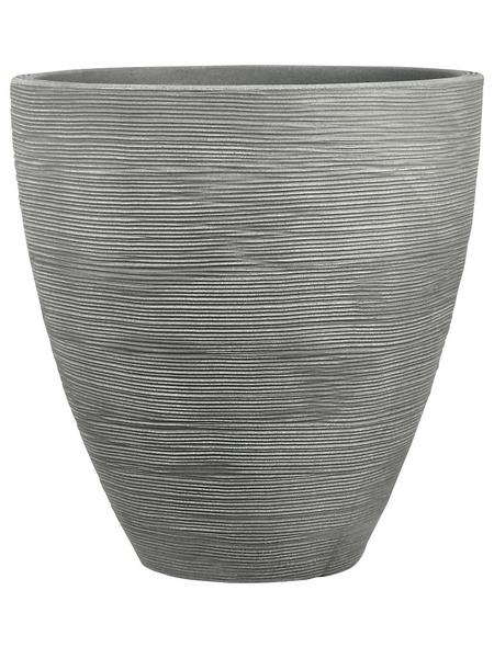 Blumentopf, ØxH: 40 x 42 cm, steingrau
