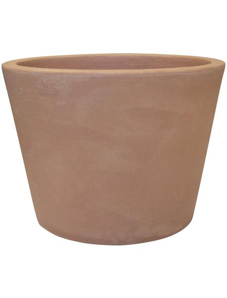 Vasar Blumentopf »Orvieto«, Breite: 30 cm, terrakottafarben, Kunststoff