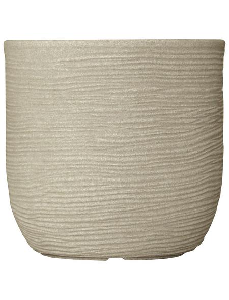 Vasar Blumentopf »Shabby«, Breite: 27 cm, beige, Kunststoff