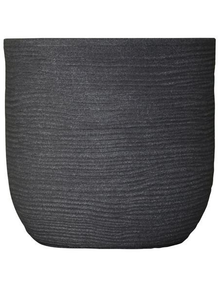 Vasar Blumentopf »Shabby«, Breite: 27 cm, granit-grau dunkel, Kunststoff