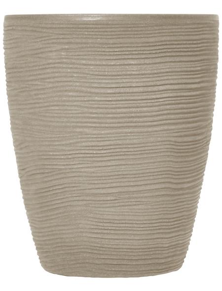 Vasar Blumentopf »Shabby«, Breite: 30 cm, beige, Kunststoff
