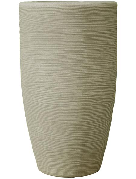 Vasar Blumentopf »Shabby«, Breite: 40 cm, beige, Kunststoff