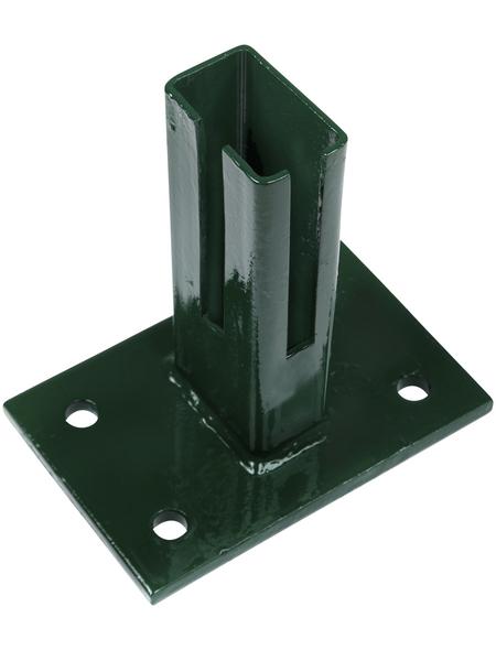 FLORAWORLD Bodenplatte, BxHxT: 15 x 15 x 10 cm, grün, für Bodenbefestigung