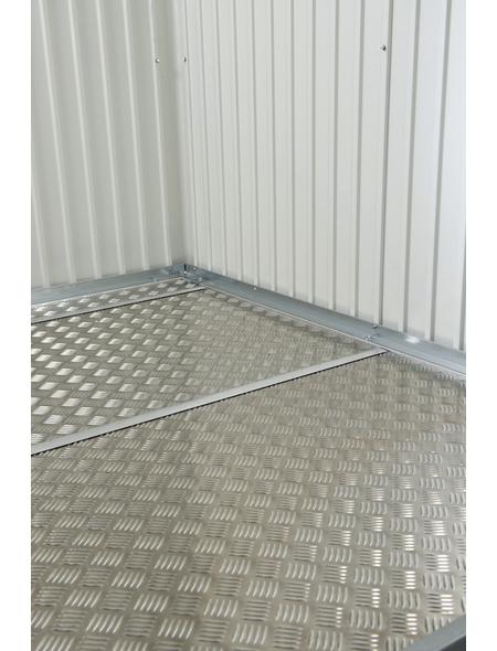 BIOHORT Bodenplatte für Gerätehäuser, BxHxt: 243,5 x 0,2 x 283,5 cm, Aluminium