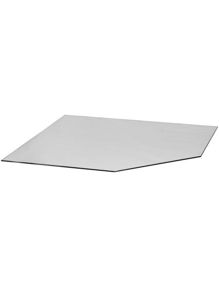 TIS Bodenplatte zum Funkenschutz, Sicherheitsglas, BxL: 120 x 120 cm