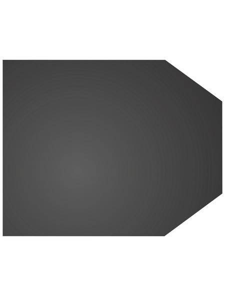 COLOR EMAJL Bodenplatte zum Funkenschutz, Stahl, BxL: 80 x 100 cm