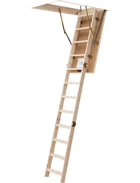 DOLLE Bodentreppe »DOLLE pur«, max. Raumhöhe 285 cm, Fichtenholz, U-Wert 1,6 W/(m²K)