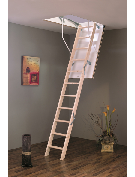 GO/ON! Bodentreppe »GO/ON«, max. Raumhöhe 280 cm, Fichtenholz, U-Wert 1,2 W/(m²K)