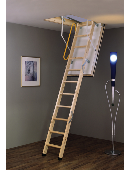 MINKA Bodentreppe »Polar extrem«, max. Raumhöhe 280 cm, Fichtenholz, U-Wert 0,59 W/(m²K)