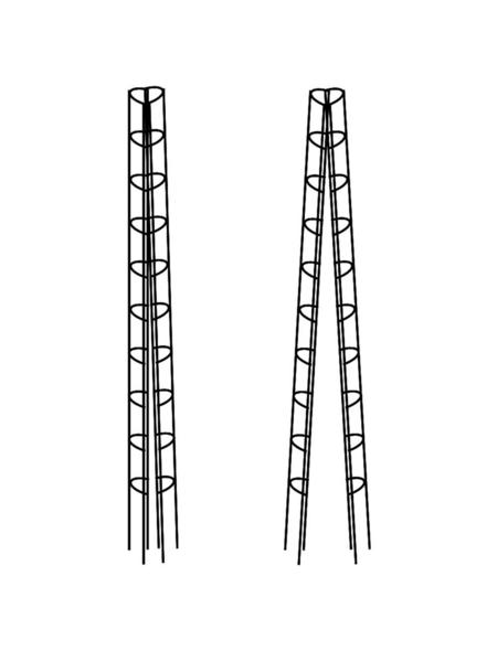 BELLISSA Bohnenturm, Höhe: 340 cm, Stahl