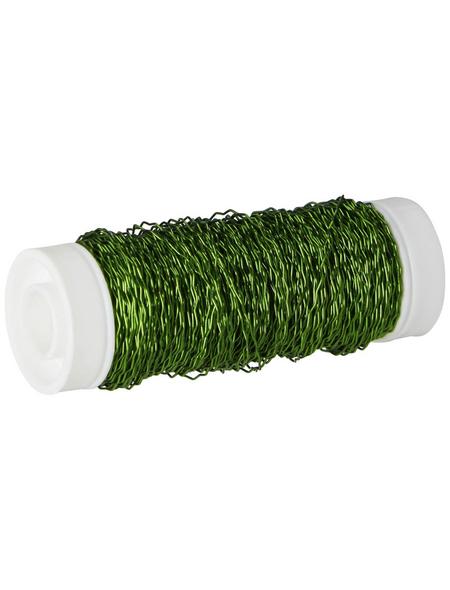 NATURAL COLLECTIONS Bouillondraht, Metall, grün