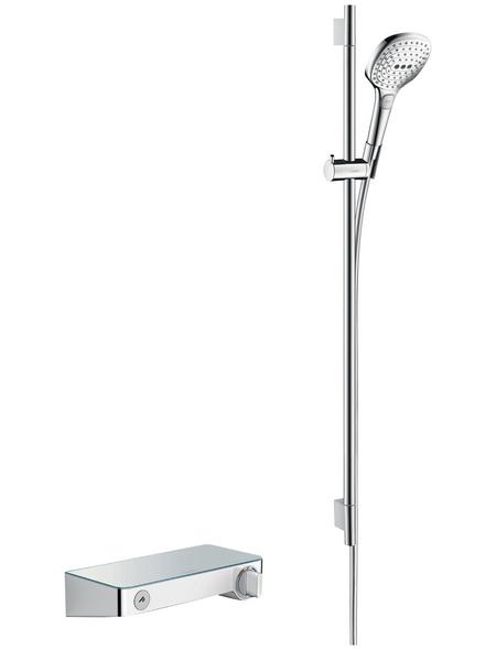HANSGROHE Brause-Kombi »Raindance Select E«, Höhe: 100,8 cm, chromfarben/weiß