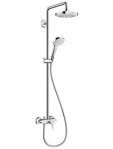 HANSGROHE Brause-Set »Croma Select E«, Höhe: 114,1 cm, chromfarben/weiß