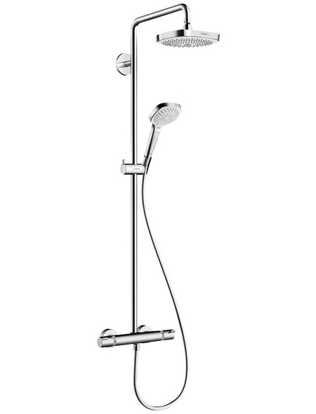 HANSGROHE Brause-Set »Croma Select E«, Höhe: 114,1 cm, chromfarben/weiss